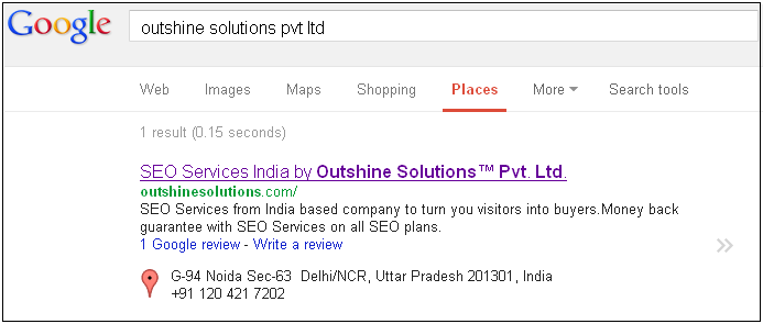 Local Result of Outshine Solutions Pvt Ltd