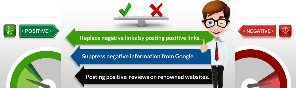 Replace negative links by posting positive links
