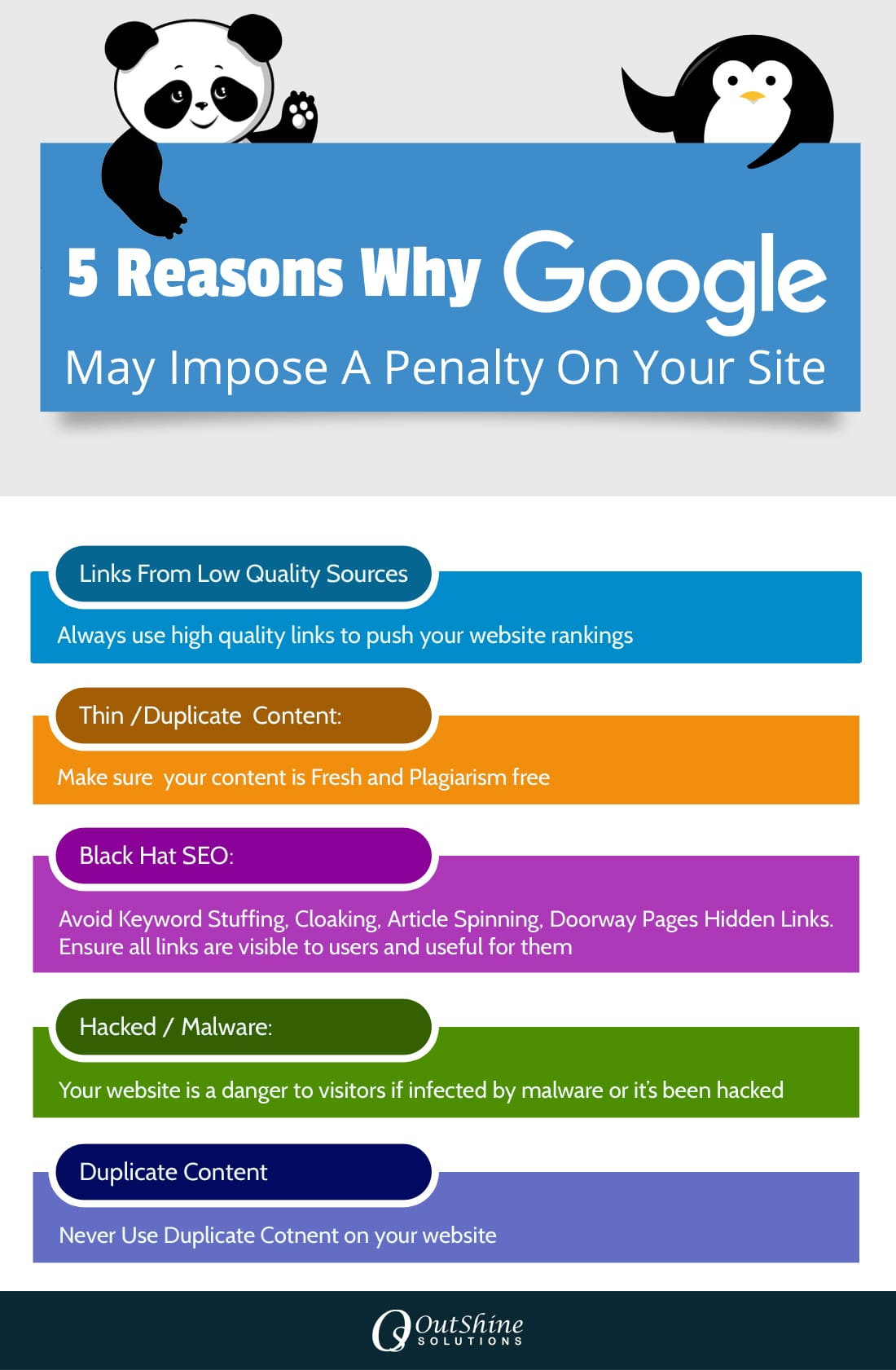 five reason of google panalty
