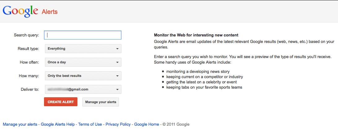 google aleart
